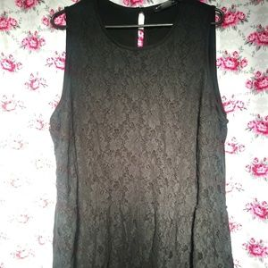 628a2c59f6ca8 bianca nygard Tops - Cute black lace tank top